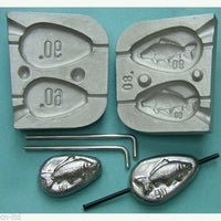 Inline Flat Pear lead mould   weights fishing lead mould Carp Boat Fishing , - Caistor Tackle