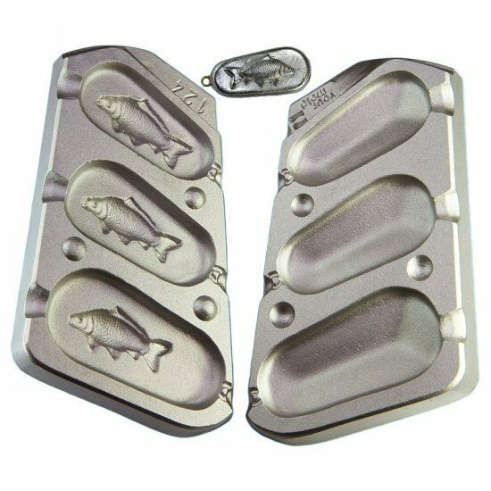 3 in 1 3D CARP IMAGE LEAD CARP FISHING WEIGHT MOLD MOULD,