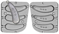 Aluminium Mould for Norwegian Style Heavy Boat Weights  7oz, 10oz and 14oz - Caistor Tackle