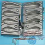 Mould, Hexagonal  Lead Mould Weight 100/110/120/130g, sea,boat, beach cod - Caistor Tackle