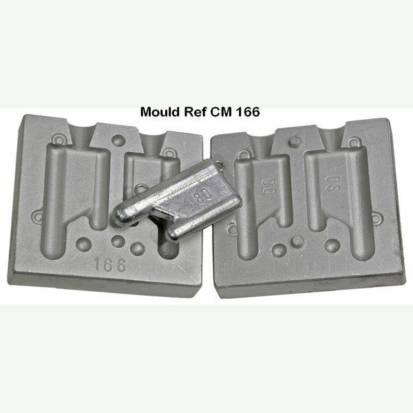 Twin Mould for flat Mini  Trolling Weight weights 60 and 80gram - Caistor Tackle
