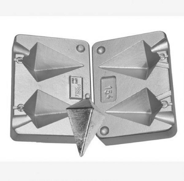 Pyramid Weight Mould for sea fishing,  Aluminium twin mould 130-180gram - Caistor Tackle