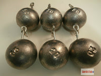 Cannon Ball Sea Weights Various lead weights, loops,eyes - Caistor Tackle