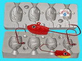 Self adhesive lead mould eyes 8mm Red sea boat beach coarse fishing lures perks - Caistor Tackle