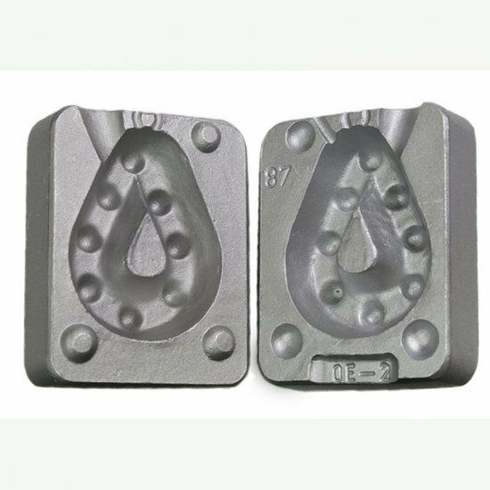 Aluminium Mould for Pear Shaped Grippa Leads300g  CB87