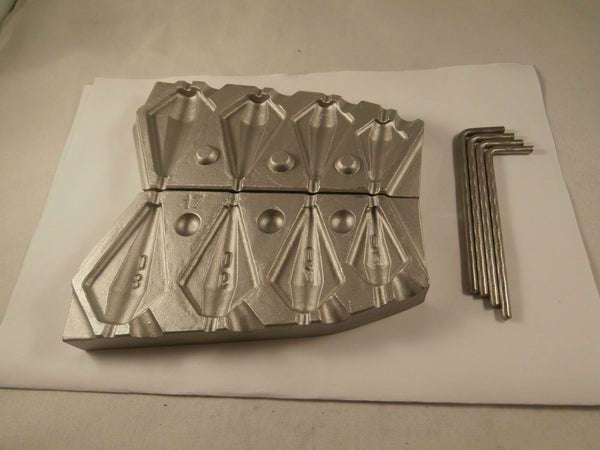 Aluminium mould for inline kite weight - Caistor Tackle