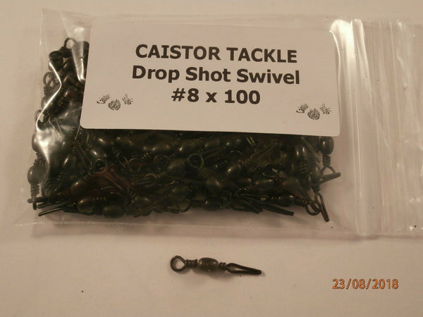 Drop Shot Sinker Line Grip Swivels Size 8 & 12 Lead Making Moulds Pencil weight - Caistor Tackle