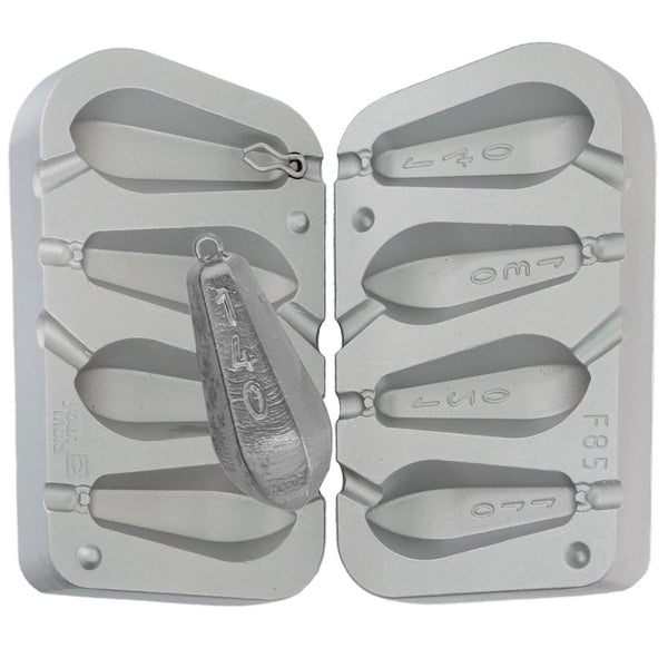 Aluminium Mould for  Tribolo weights Fast water 120g and 140g 80g,100g