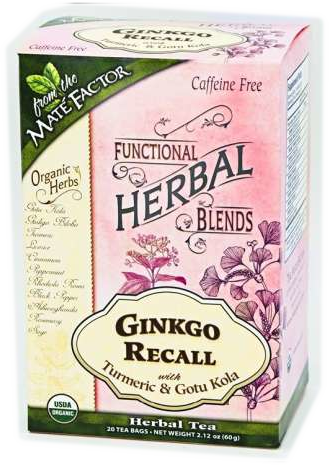 Ginkgo Recall with Turmeric and Gotu Kola Herbal Blend