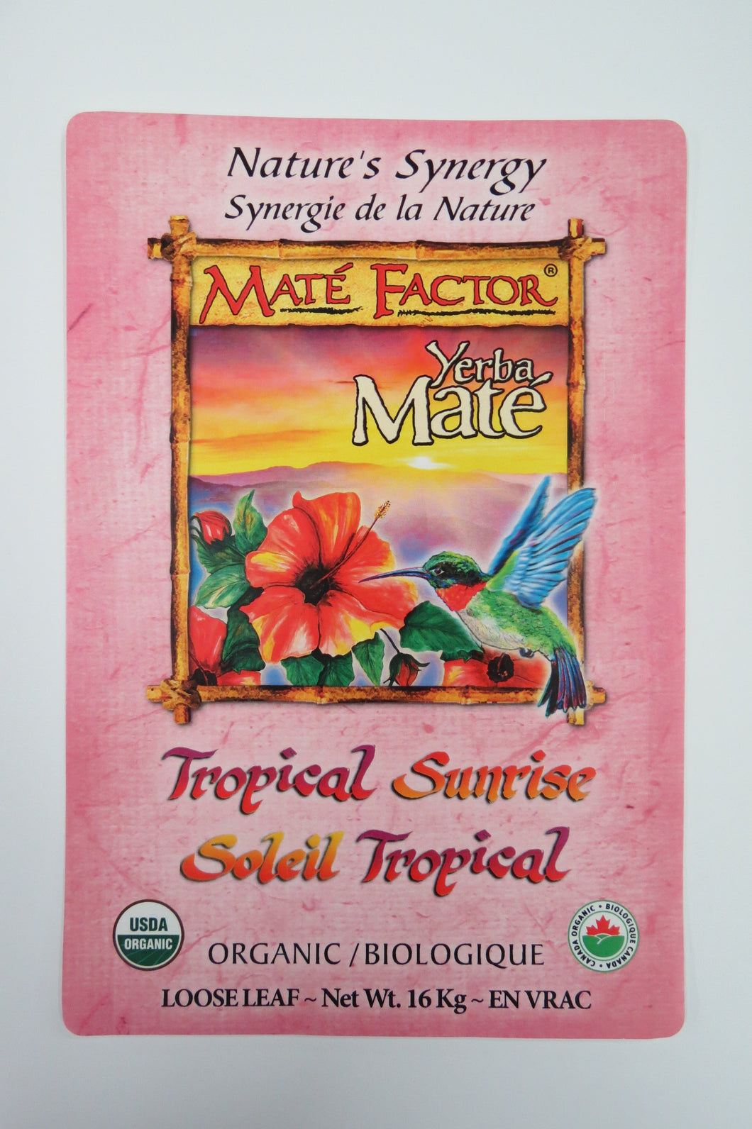 Tropical Sunrise Yerba Maté 16 kg Loose Tea - Organic