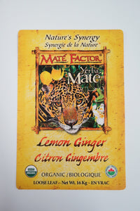 Lemon Ginger Yerba Maté 16 kg Loose Leaf - Organic