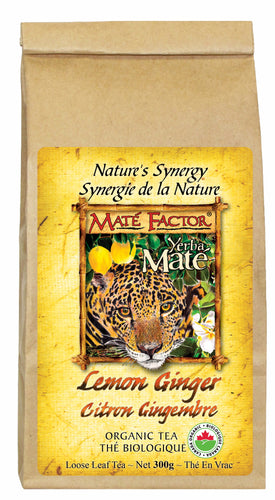 Lemon Ginger Yerba Maté 300g Loose Leaf - Organic