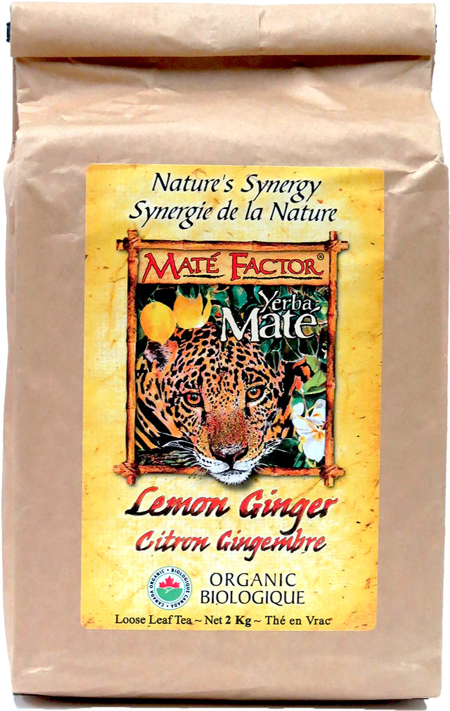 Lemon Ginger Yerba Maté 2 kg Loose Leaf - Organic