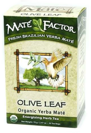 Olive Leaf Yerba Mate Tea Bags