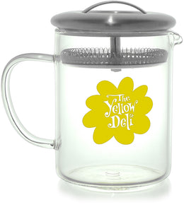 Infusion Beaker with Yellow Deli Logo