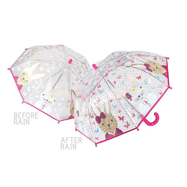 33P2101  COLOUR CHANGING UMBRELLA BUNNY RABBIT