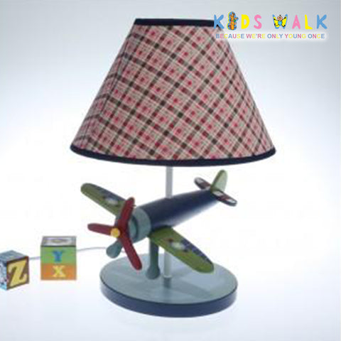 XYET 039 AIRPLANE TABLE LAMP WITH CONICAL SHADE