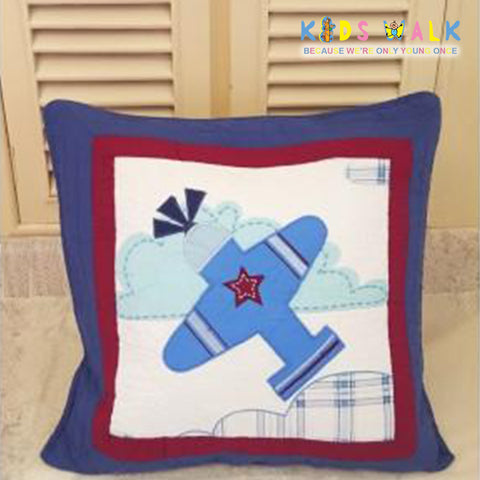 BC-009 BOY'S AIRPLANE CUSHION COVER