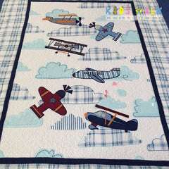 YT-004 AIRCRAFT BED SPREAD W/ PILLOW CASE