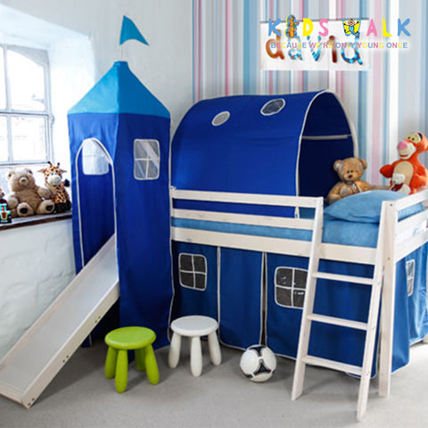 TT-60-19 BLUE CASTLE LOFT BED