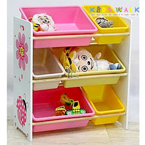 DL-008 6 BINS TOY ORGANIZER