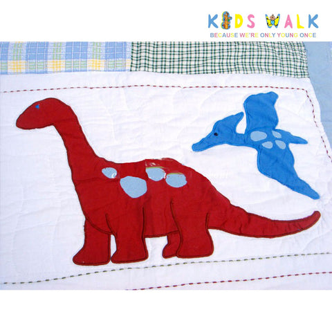 YT 045 DINO BED SPREAD W/ PILLOW CASE