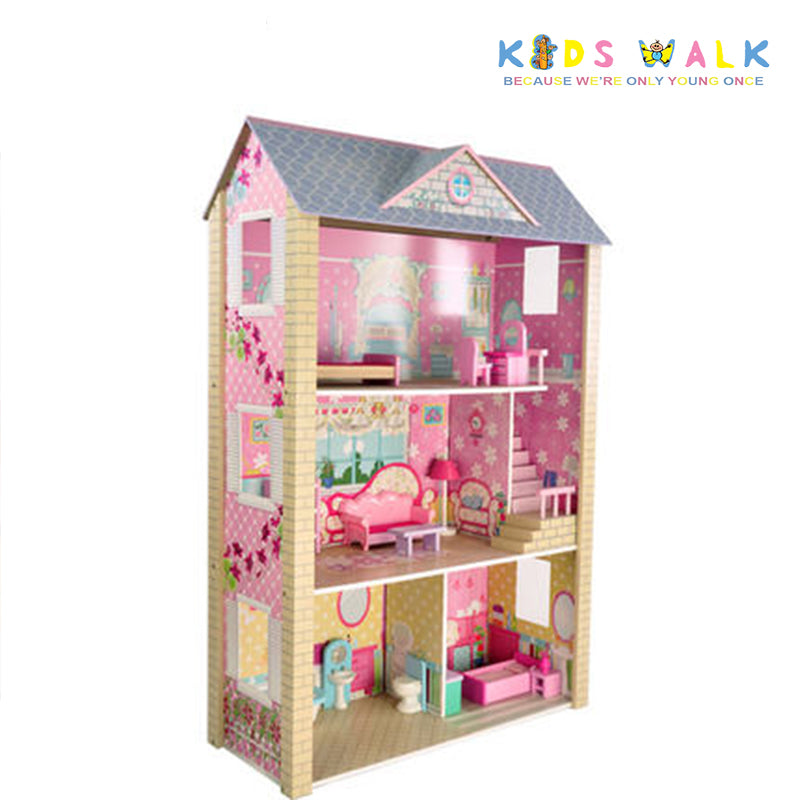 Fc 1061 Grand Mansor Big Wooden Dollhouse Kids Walk