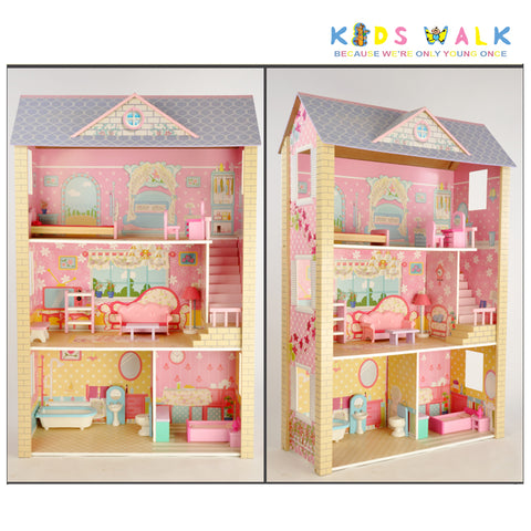 FC-1061 GRAND MANSION BIG WOODEN DOLLHOUSE