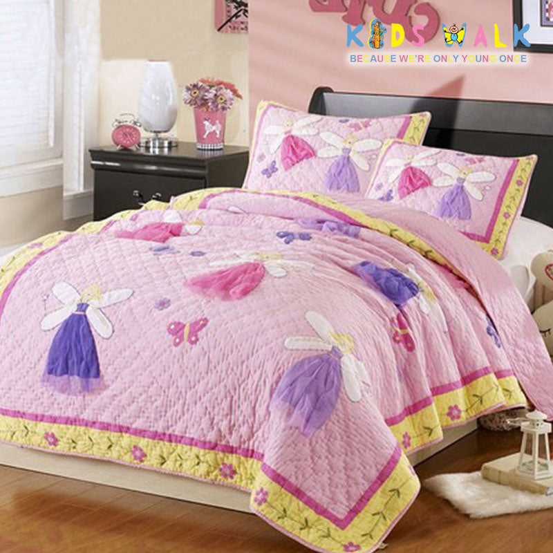 YT 007 FAIRY BED SPREAD W/ PILLOW CASE