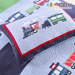 YT-005 TRAIN BED SPREAD W/ PILLOW CASE