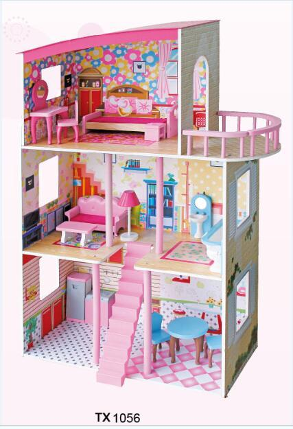 TX1056-3 LEVEL MODERN DOLLHOUSE