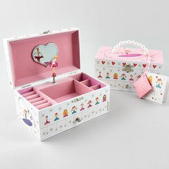 34P2365  MUSICAL JEWELLERY BOX WITH DRAWER - BALLET