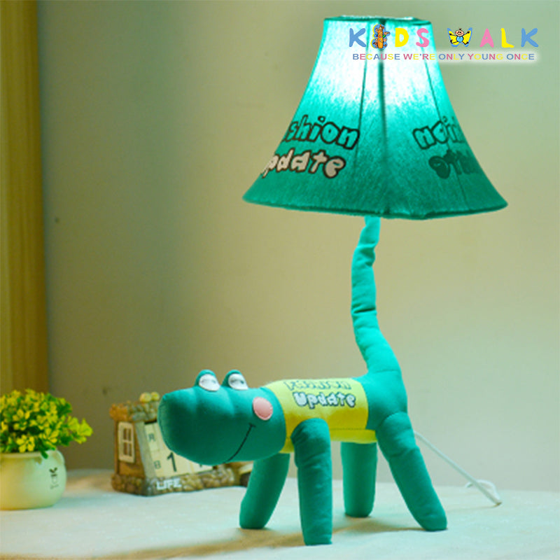 L12-069-4A GREEN ALLIGATOR CARTOON CLOTH TABLE LAMP