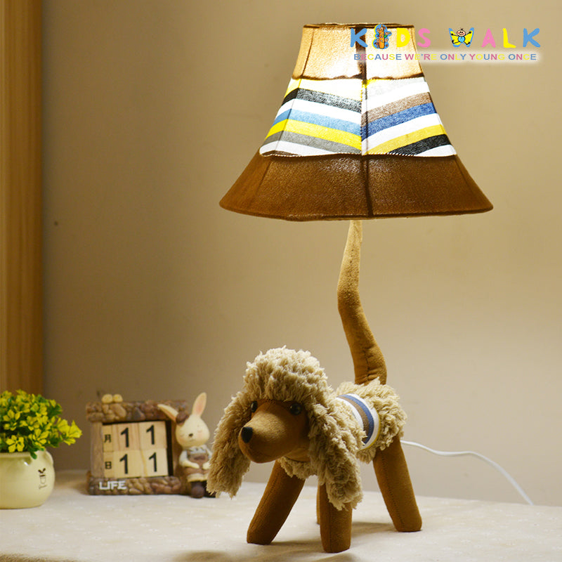 L12 086 35 brown poodle cartoon cloth table lamp kids walk l12 086 35 brown poodle cartoon cloth table lamp mozeypictures Image collections