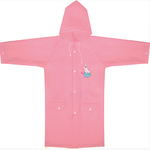 PINK UNICORN PONCHO WITH SCHOOL BAG COVER