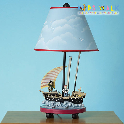 CXYET 033 PIRATE TABLE LAMP WITH CONICAL SHADE