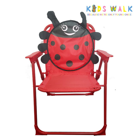 SYF010 KID'S RED LADYBUG FOLDING CHAIR