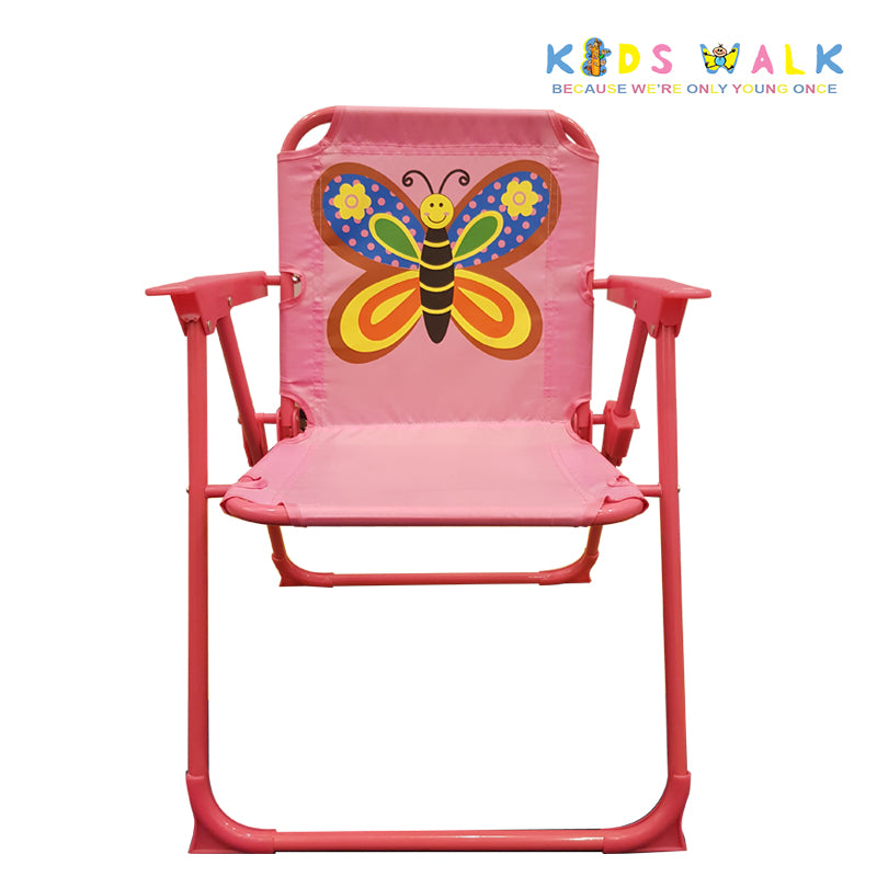 SYF064 KID'S PINK BUTTERFLY FOLDING CHAIR