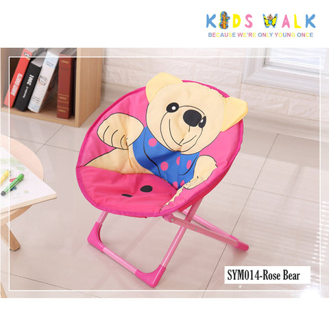 SYM014 KID'S ROSE BEAR FOLDING MOON CHAIR