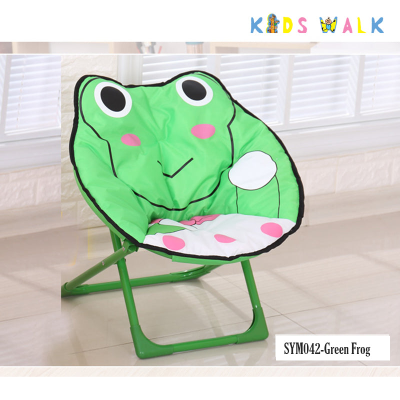 SYM042 KID'S GREEN FROG FOLDING MOON CHAIR