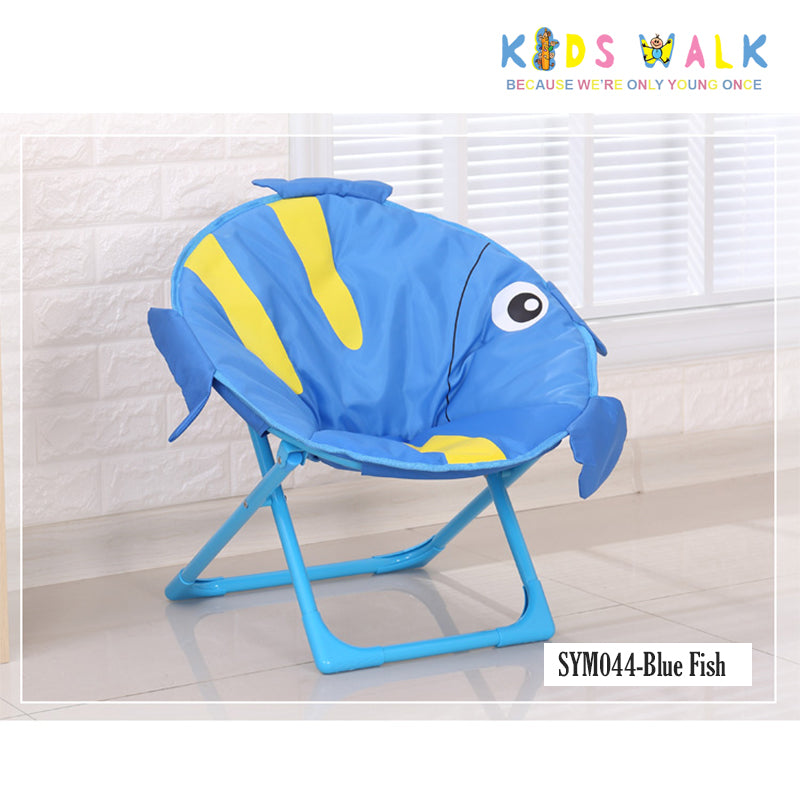 SYM044 KID'S BLUE FISH MOON CHAIR