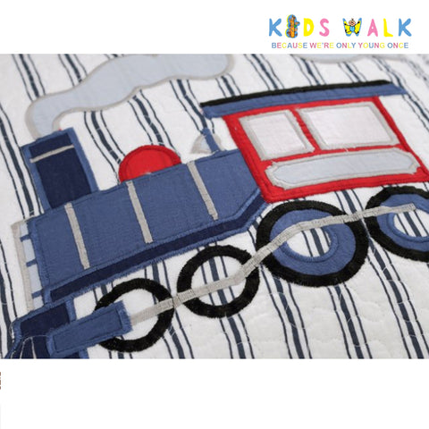 BC-010 BOY'S TRAIN CUSHION COVER