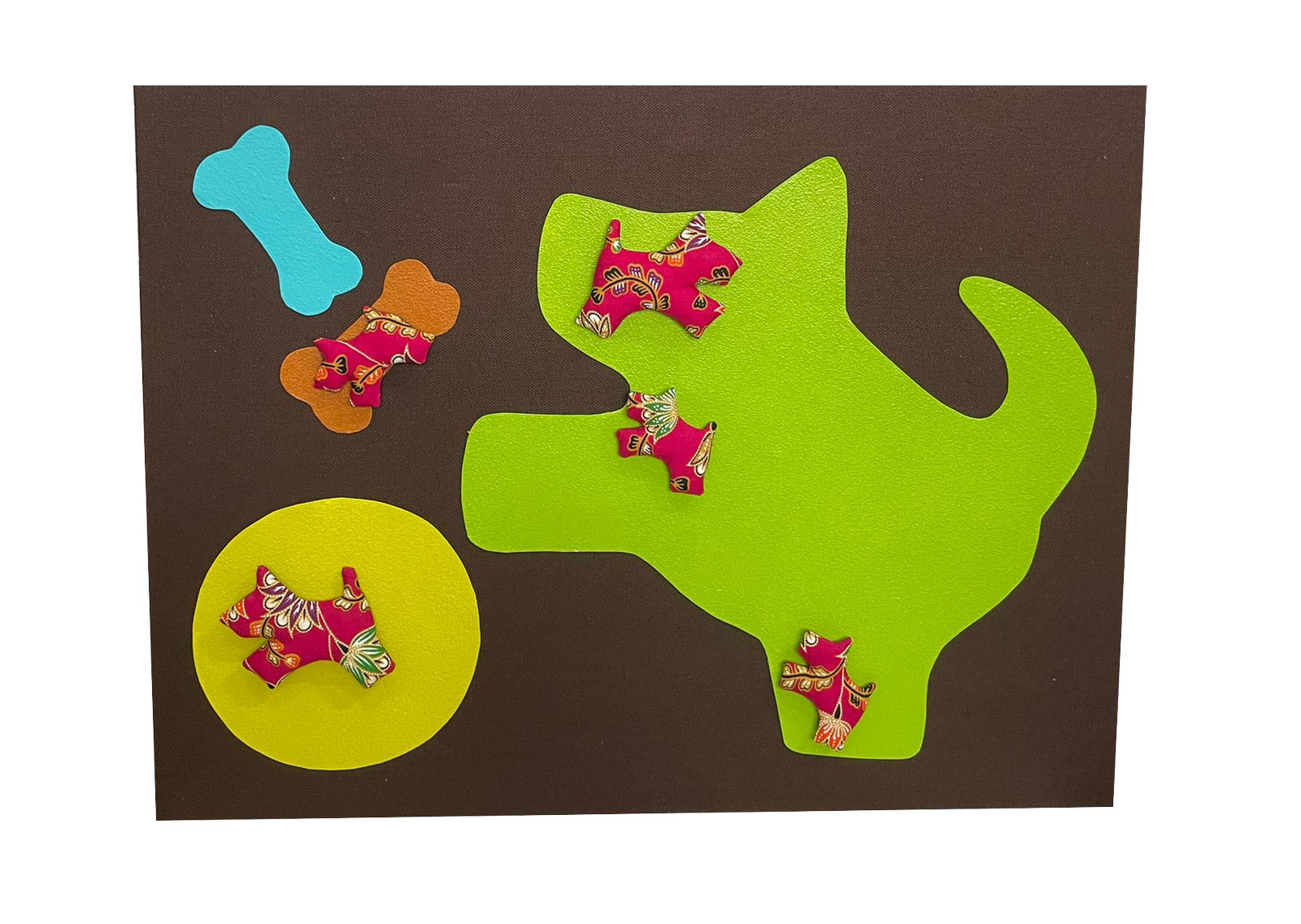 Photo frame with Dog magnet (4pcs) 50x38cm