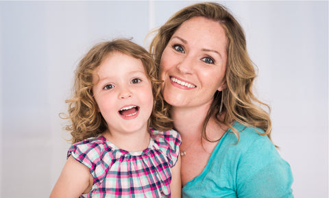 Infant Brace creator Kirsten Quist with her daughter Emma