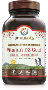 Vitamin D3 Gold - 1,000 IU (Soy-free; Organic olive oil base)