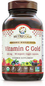 Vitamin C Gold - 240 mg (Organic, Whole-food) (TOP SELLER) (1241978437675)