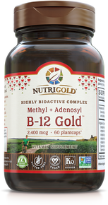 B-12 Gold - 2,400 mcg (Methyl + Adenosyl Bioactive Complex) (1241964085291)