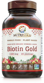Biotin Gold - 2,500 mcg (Organic, Whole-food, Plant-based) (1241926041643)