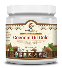 Coconut Oil Gold (Organic, Raw, Fair-Trade Certified)