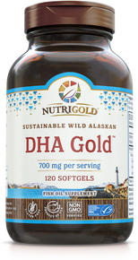 DHA Gold - (350 mg DHA per softgel in TG Form) (1242343702571)